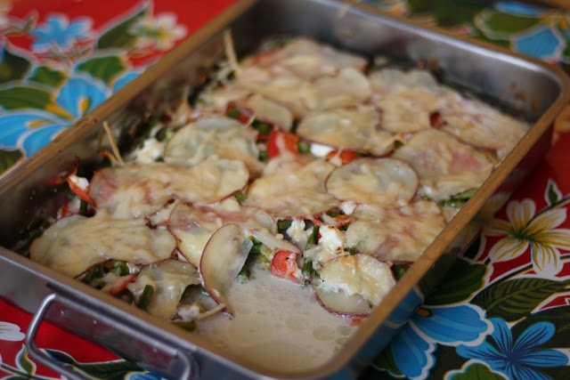 Potato and Vegetable Gratin with Goat Cheese | The Flourishing Foodie