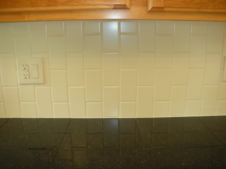 vertical subway backsplash kitchen backsplash pinterest
