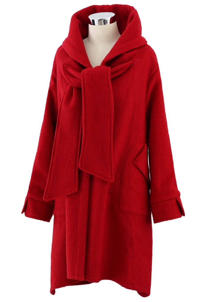 Little Red Riding Hooded Coat - Long Sleeve - Tops - Retro, Indie and