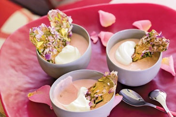 Rose petal creams with rose & pistachio toffee shards main image