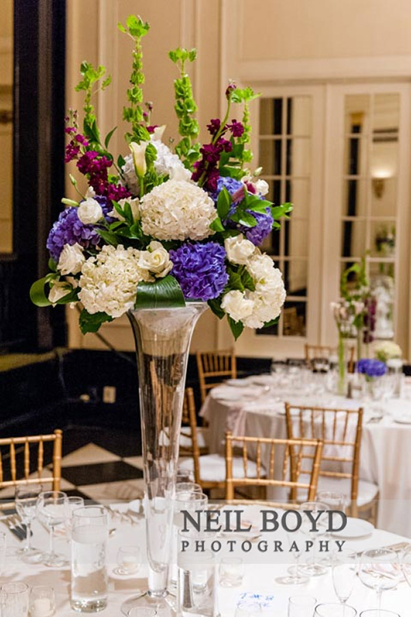 Tall wedding reception centerpiece centerpieces