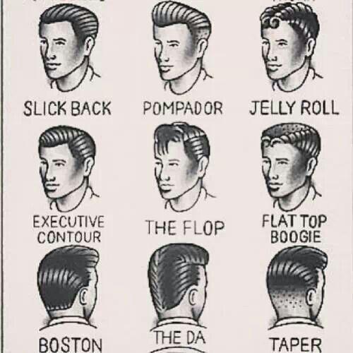 Rockabilly hairstyles for men sooo cute!