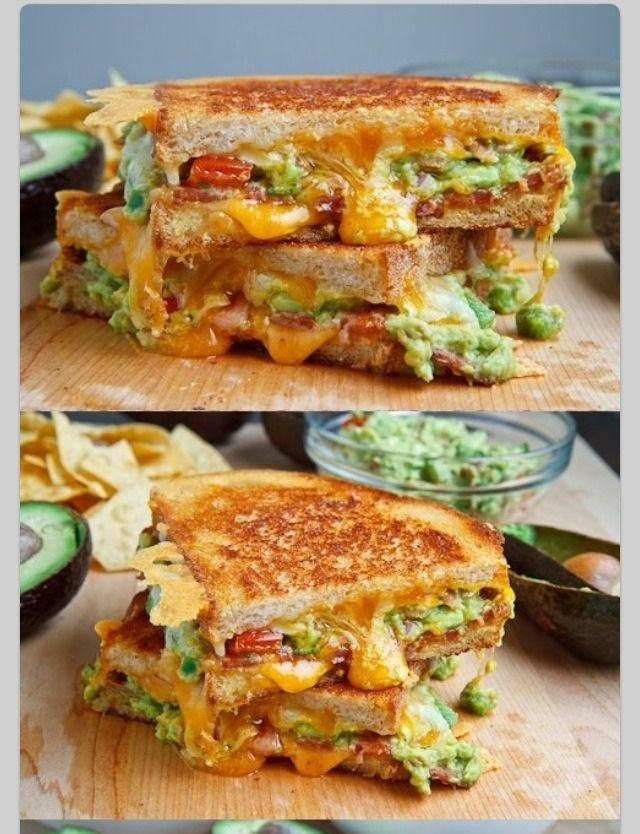 Bacon Guacamole Grilled Cheese Sandwich | Breads, Sandwiches and Pizz ...