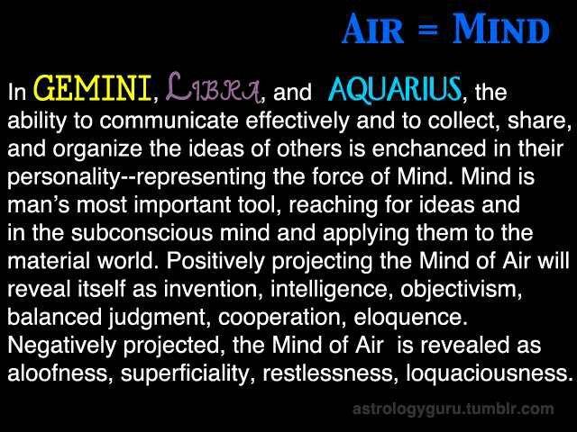 Air Signs; The Mind | Zodiac World | Pinterest