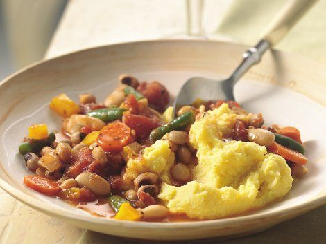Bean and Vegetable Stew with Polenta - Add an Italian flavor to your ...