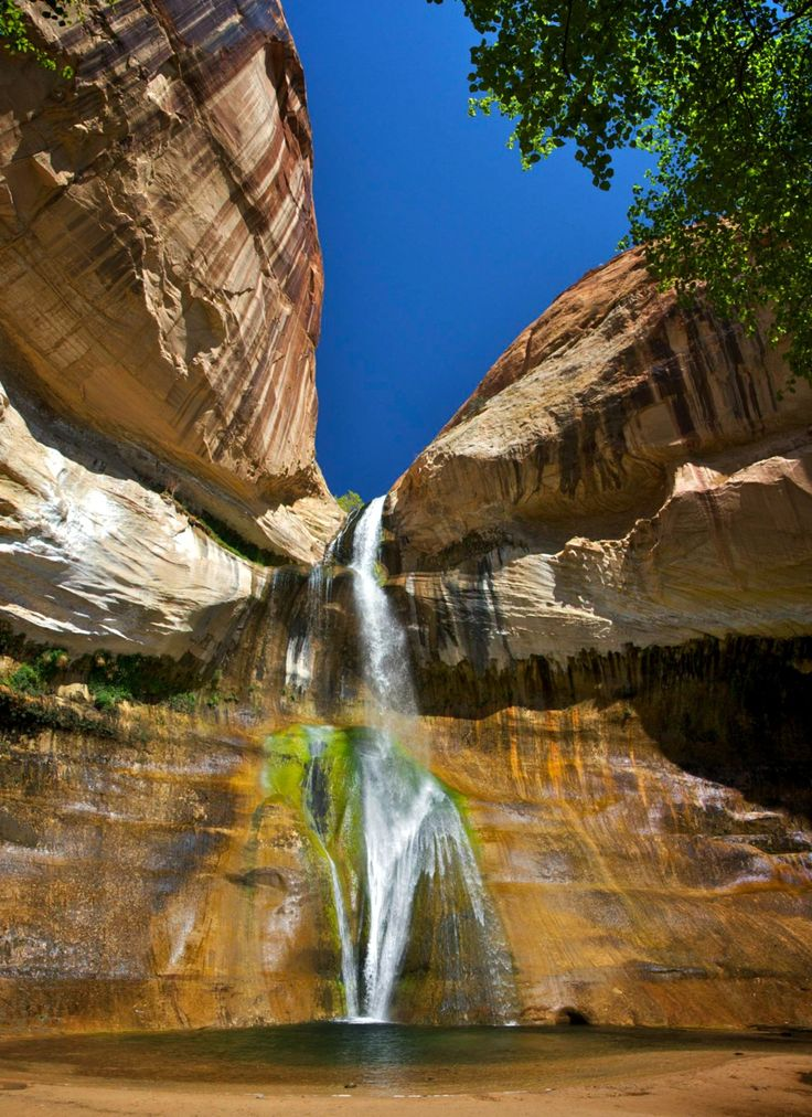 Calf Creek Falls, which is in the Grand Staircase National Monument in Utah.