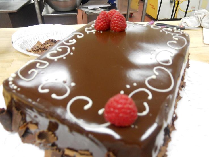 chocolate raspberry torte w/ ganache | Baking | Pinterest