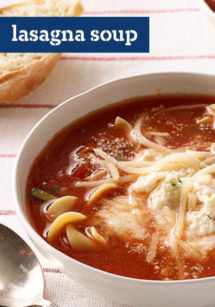 Lasagna Soup Recipe | soup, chili, stews, etc. | Pinterest