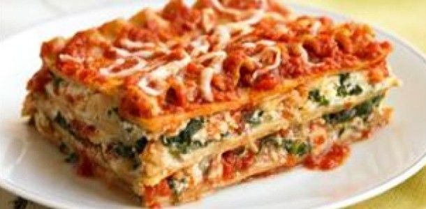 Slow Cooker Spinach Lasagna Recipe - Not vegan because of the cheese ...