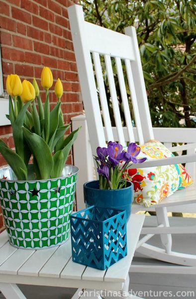 spring front porch decorating outside decor pinterest