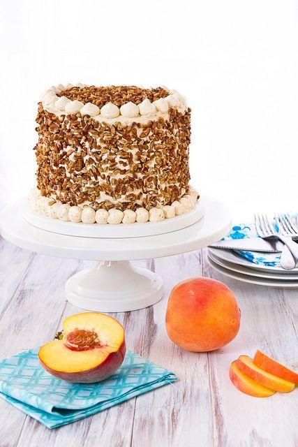 Peach Cake with Dulce de Leche Frosting_ | Favorite Recipes | Pintere ...