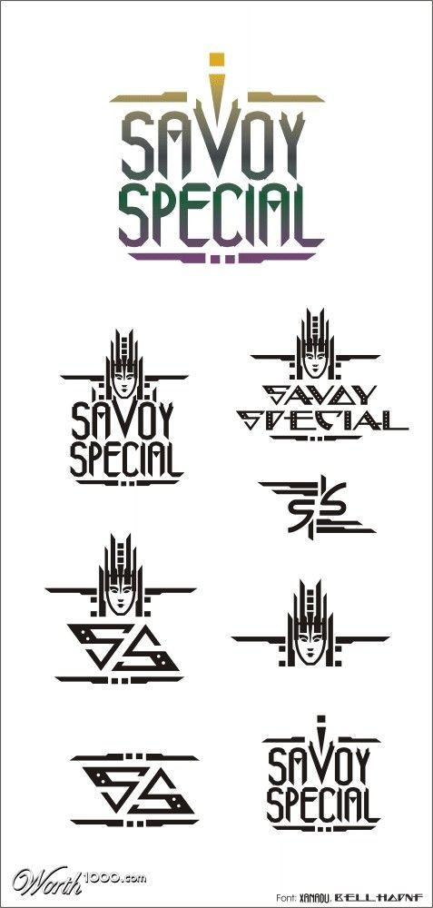 Savoy Special Logo Art Deco Ideas Art Deco Designs Pinterest