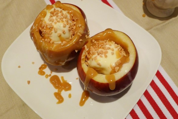 baked apples filled with ice cream | 45 | Pinterest