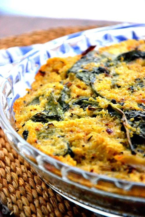 Baked Spinach Quinoa Pie Recipe | I bet this is YUMMY! | Pinterest
