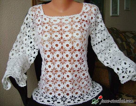 Crochet Free Patterns Blouse : Pinterest Crochet Blouses Patterns - Model Blouse Batik