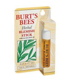 Herbal blemish spot acne stick with tea tree essential oils burts