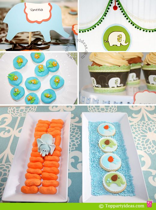 elephant party food and decorations elephant baby shower birthda