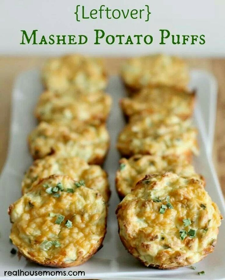Mashed potato puffs | Recipes | Pinterest