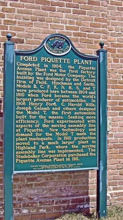 Ford Motor Company Piquette Avenue Plant Detroit The