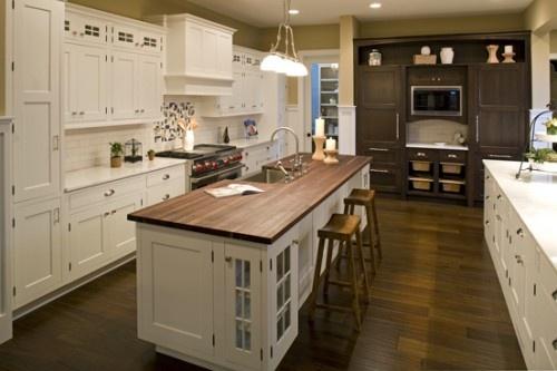 Long narrow island kitchens pinterest for Long kitchen cupboard