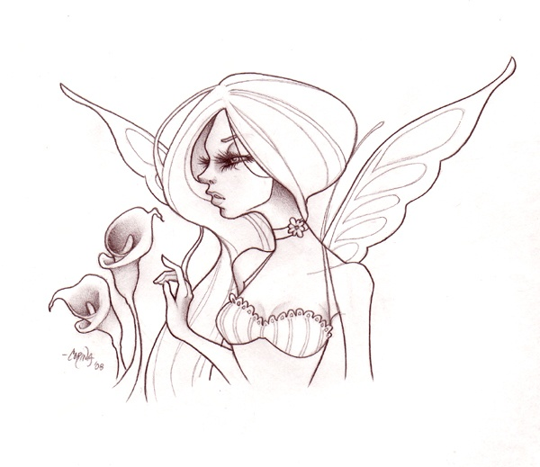 how to draw a fairy for beginners