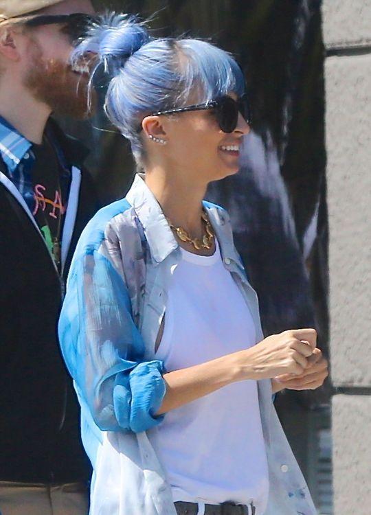 Nicole Richie's Blue Hair