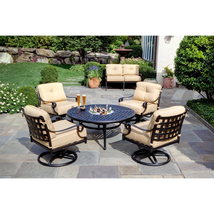 Backyard Fire Pit Laws : Alfresco Home Chateau Fire Pit Chat Set  the great outdoors  Pinter