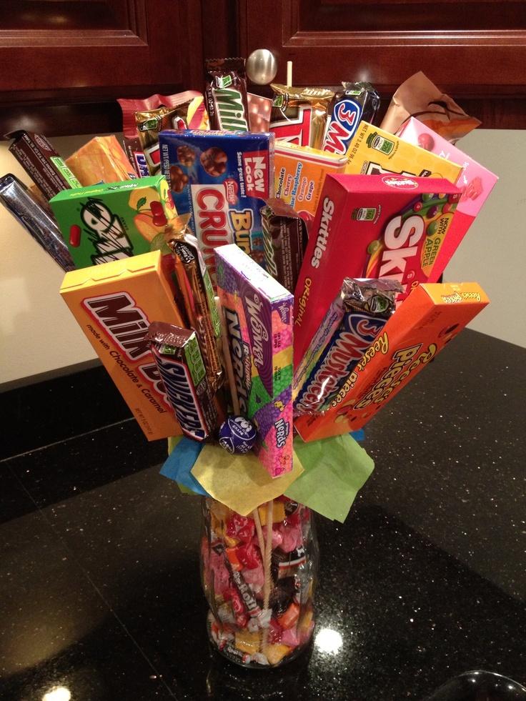 Candy bouquet christmas gift idea pinterest