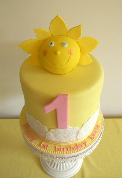sun birthday cakes
