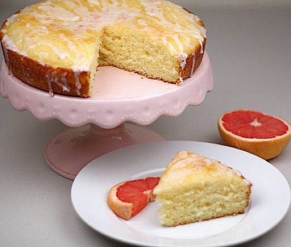 pink grapefruit yogurt cake from Two Peas and Their Pod