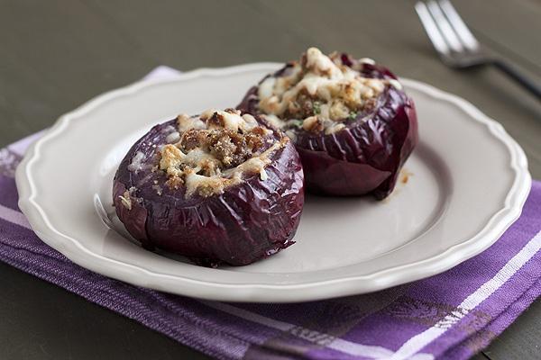 Sausage-Stuffed Red Onions | Recipe