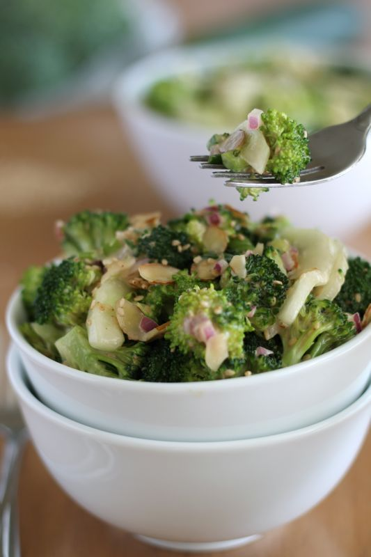 Asian-style Broccoli Cucumber Salad with Garlic Ginger Dressing