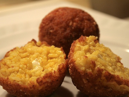 Rice Balls - Arancini are traditionally prepared with Arborio rice