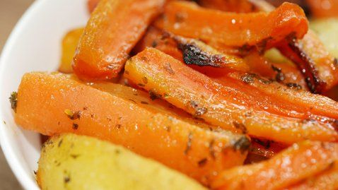 Sweet And Spicy Roasted Carrots, Parsnips, And Chickpeas Recipe ...