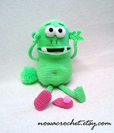 Crochet Pattern: Dewey Crochet Amigurumi Monster Pattern