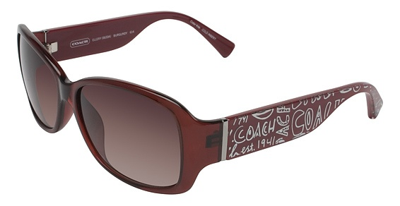 coach red sunglasses | COACH - SERIAL NUMBER : ELLERY S633A BROWN