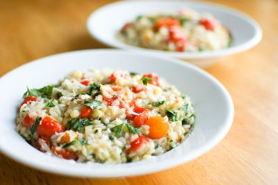 tomato and corn risotto | Get in my belly | Pinterest