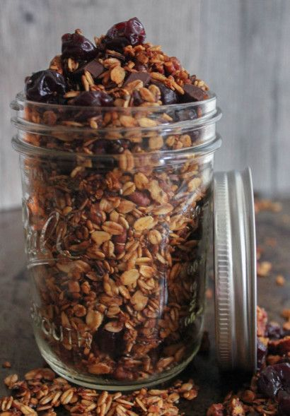 Dark Chocolate Cherry Granola with Crunchy Quinoa | Tasty Kitchen: A ...