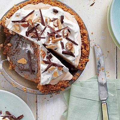 Mexican Chocolate Ice-Cream Pie | A crisp, over-the-rim graham cracker ...