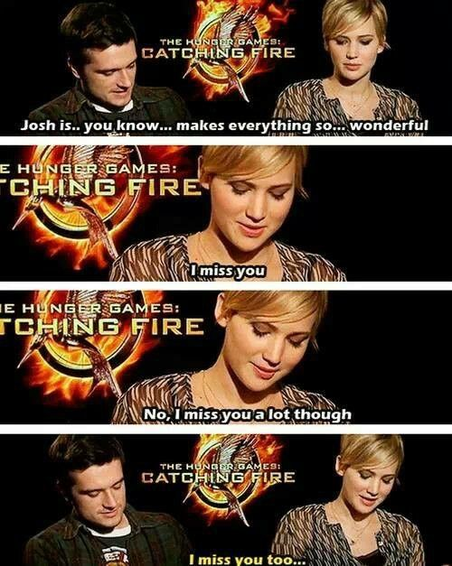 Joshifer   Josh Hutcherson And Jennifer Lawrence Together