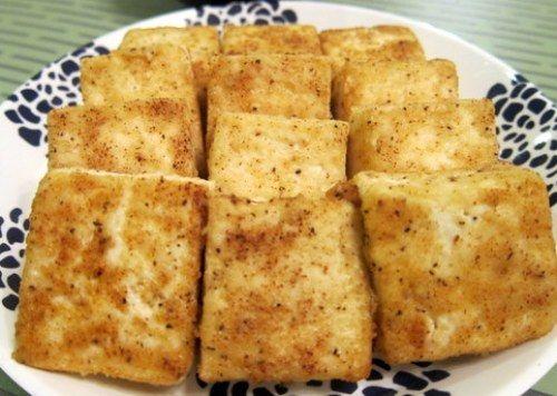 Pan Fried Tofu with Sesame Soy Sauce #soysauce #sesameoil #sesameseed ...