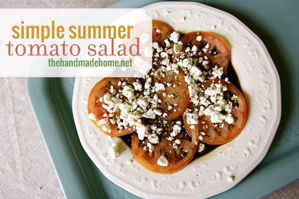 Super simple summer tomato salad | Salad & Dressings | Pinterest