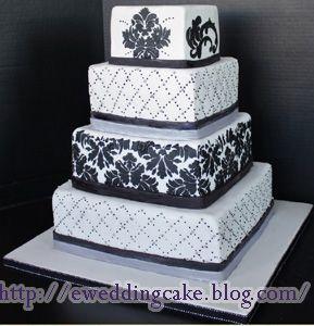 Black and White Wedding Cake | kate's kake | Pinterest