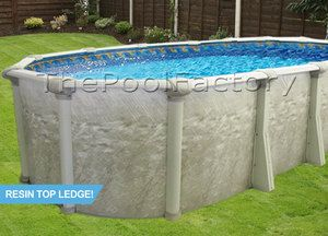 15x24x52 oval above ground swimming pool package resin for Above ground pool deals