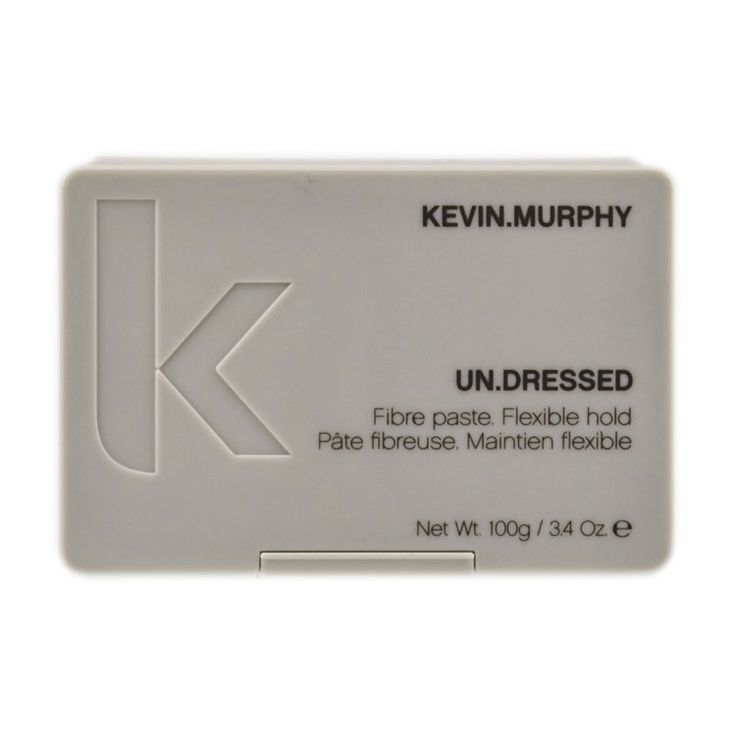 A firm elastic paste to create a loose, undone, natural look. Infused with Black Pepper, Honey & Ivy extracts for a matte texture.  Kevin Murphy Undressed Fibre Paste $24