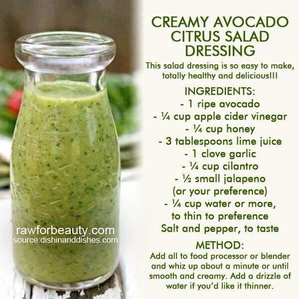 creamy avocado citrus dressing! | Food~ Soup, Salad & Sides | Pintere ...