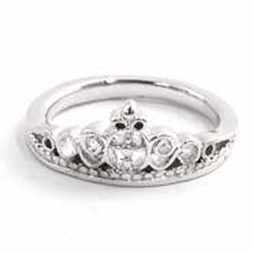 cross christian ring princess crown purity includes