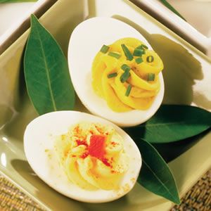Creamy Deviled Eggs | Appetizers from Culinary.net | Pinterest