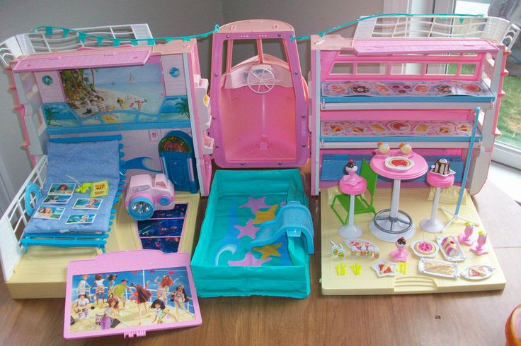 Barbie Cruise Ship Boat Tons Of Original Accessories