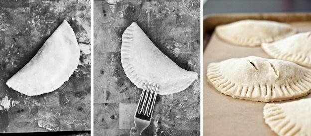 Empanada dough recipe, spicy filling recipe and cilantro cream recipe ...